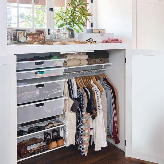 Small Space Elfa Classic Closet
