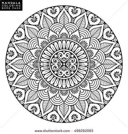 Flower mandala vintage decorative elements oriental pattern vector illustration islam - Pouf eigentijds ontwerp ...