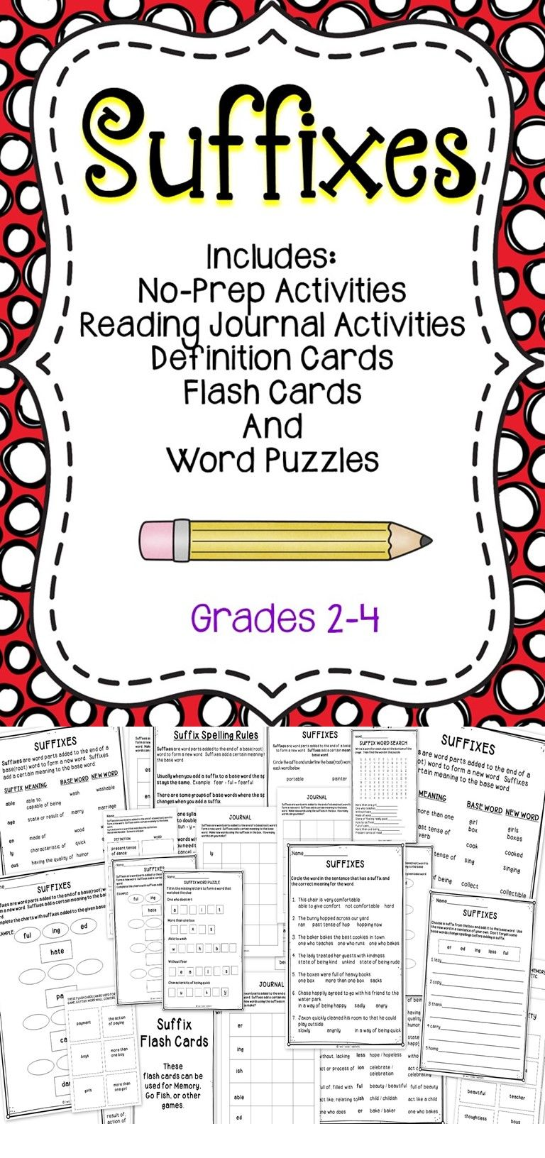 Suffixes | Activities, Students and Gaming