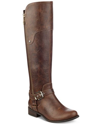 G By Guess Harson Wide Calf Riding Boots Boots Shoes Macy S Giftryapp Tall Riding Boots Tall Brown Boots Boots