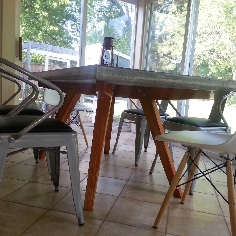 Custom Made Concrete Patiodining Table  Pied De Table Stunning Custom Made Dining Room Tables Design Inspiration