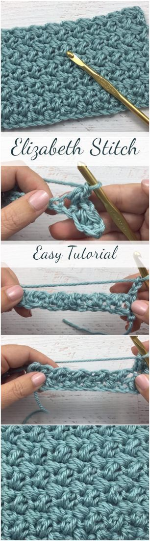 Elizabeth Stitch Easy Tutorial für Anfänger + Easy & Free Video Tutorial ... -...,  #Anfänger... #shawlcrochetpattern