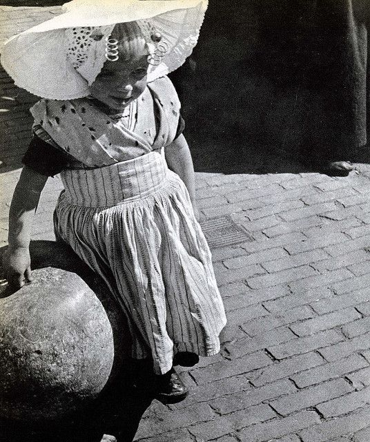 little girl living in the town of Arnemuiden in the province of Zeeland in Holland , around 1955