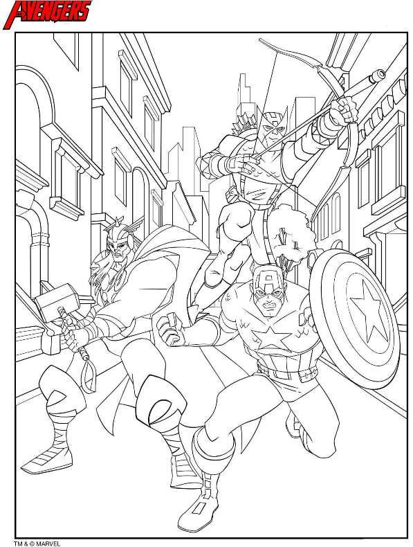 Avengers Logo Coloring Page Pictures To Pin