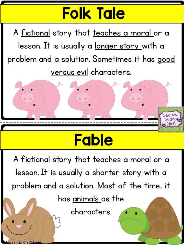 Folk Tale And Fable Poster Or Anchor Chart Rl2 Reading Workshop Reading Anchor Charts Reading Classroom Fables worksheet 2nd grade