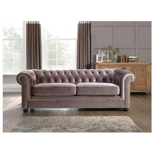 Tesco Direct Velvet Sofa Mink 599