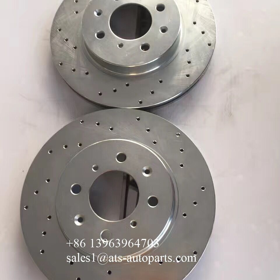 White Zinc Plating Drilled Brake Disc On Stock Sell At The Lowest Price Zinc Plating Zinc Plating