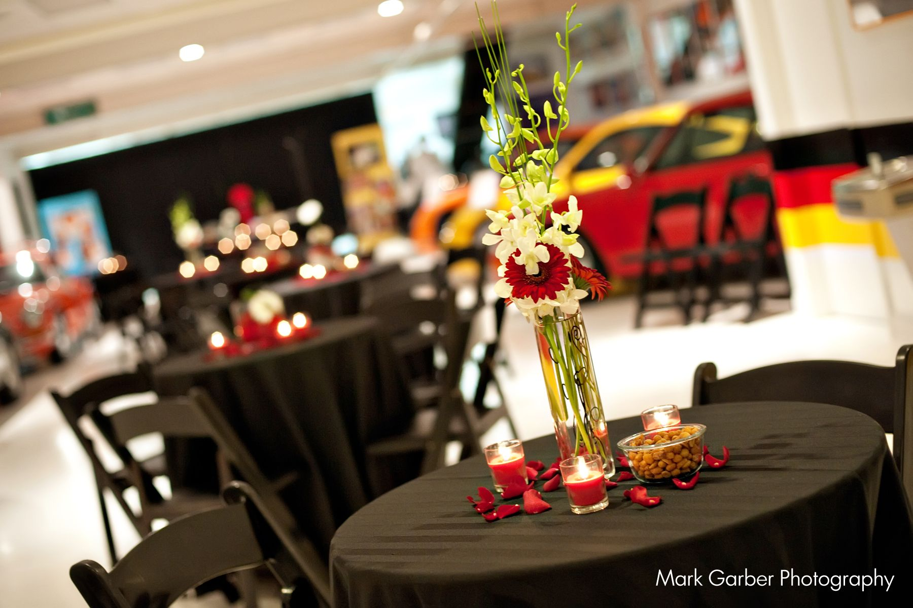 Red And Black Cocktail Reception At The Taj Ma Garaj In Dayton Ohio Decor By Prime Time Party Rental Photography Party Rentals Event Rental Party Event