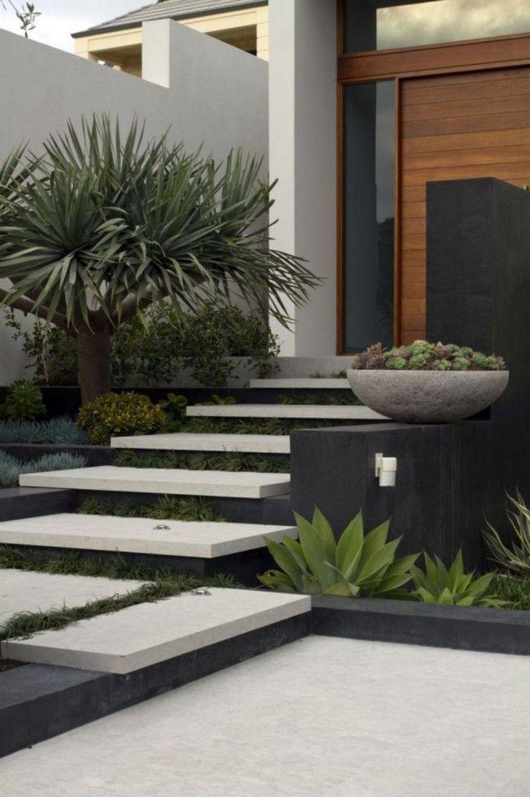 40 Wonderful And Modern Garden Architecture Design Ideas Modern Front Yard Modern Landscaping Garden Architecture