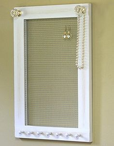 Photo of Sale   Jewelry Holder Organizer Crystal Knobs Necklace Holder Earring Holder