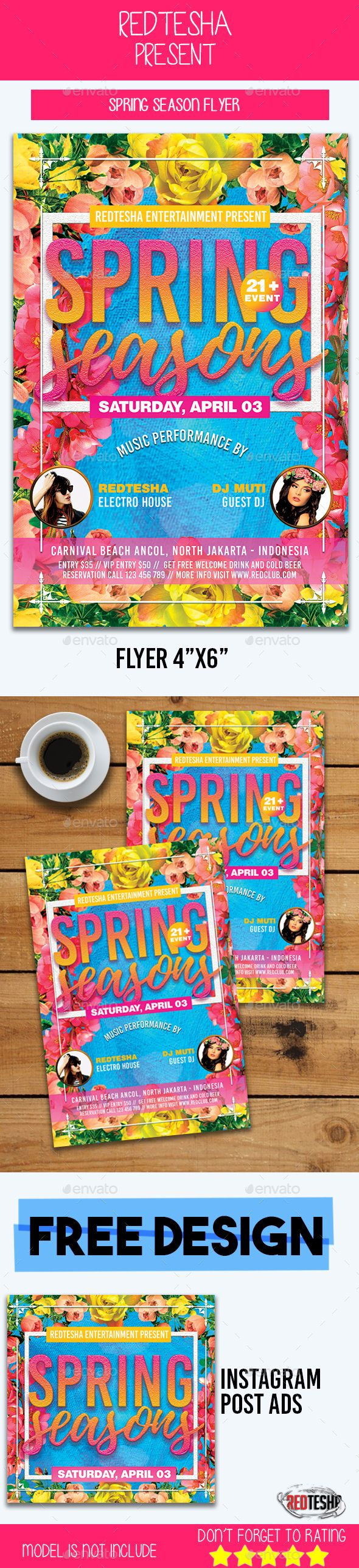 Spring Flyer Event Flyers Flyer Template And Template