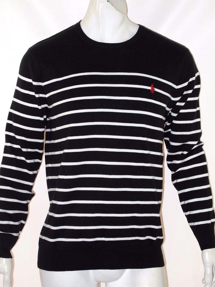 Polo Ralph Lauren striped pima lightweight sweater size