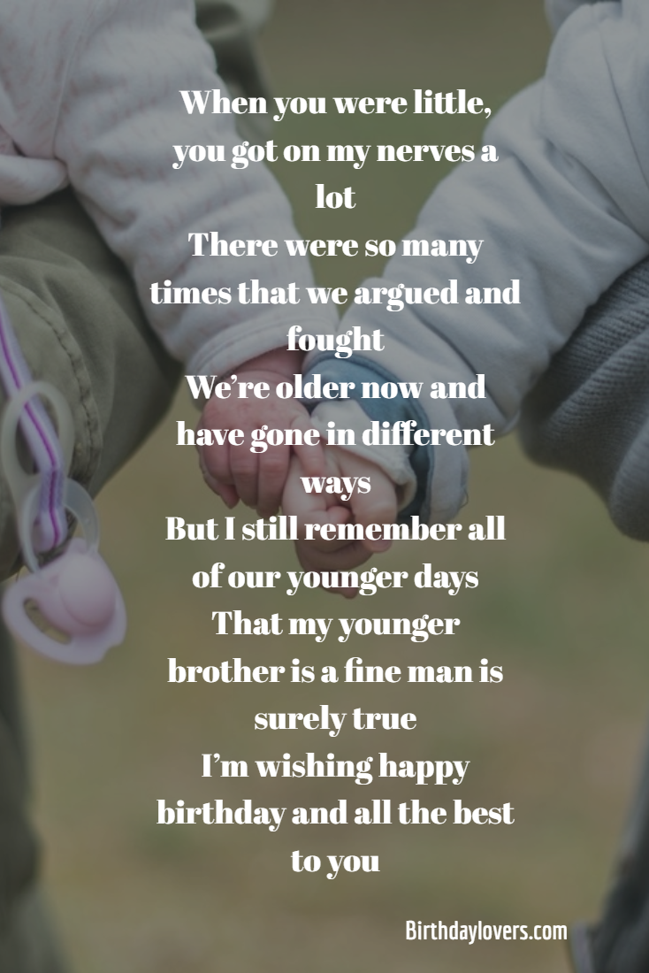 Best 40 Happy Birthday Quotes For Younger Brother Best Brother