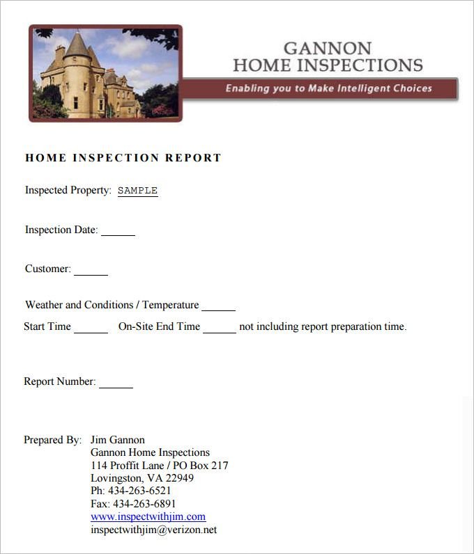 Image Result For Inspection Report Template  Radon Report