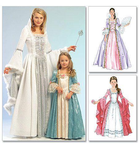Misses'/Children's/Girls' Princess Costumes sleeve needs tweaking, Merida possibility, definitely Merida's mother possibility