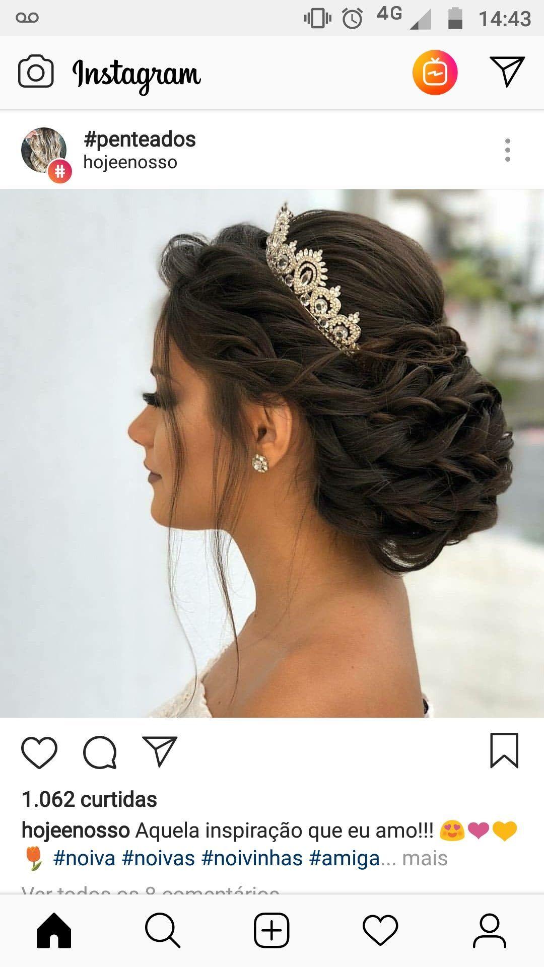 – penteados #frisur #frisuren #haar #hochzeitsfrisuren #hochzeitfrisur