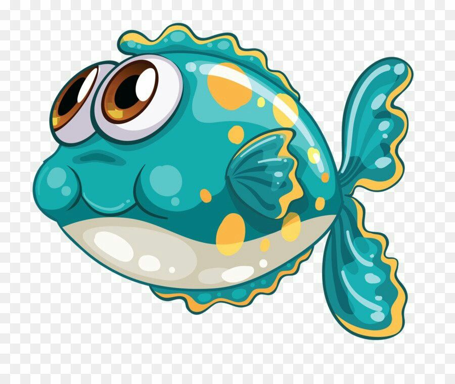 Graphic Logo Cartoon Fish Cartoon Sea Animals Fish Art