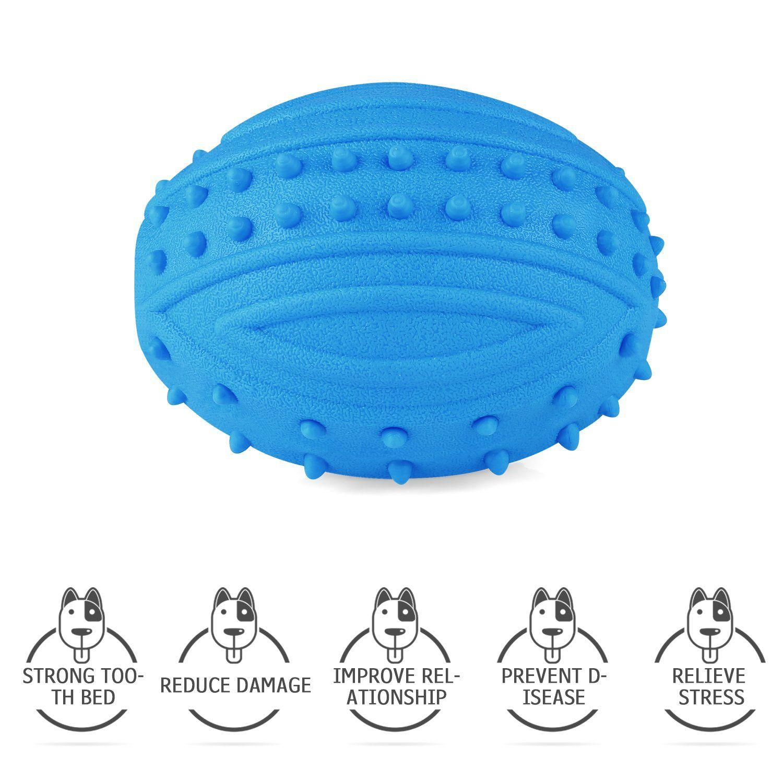 Baodatui Dog Toys Balls Dog Squeak Chew Ball Toys Durable Dog