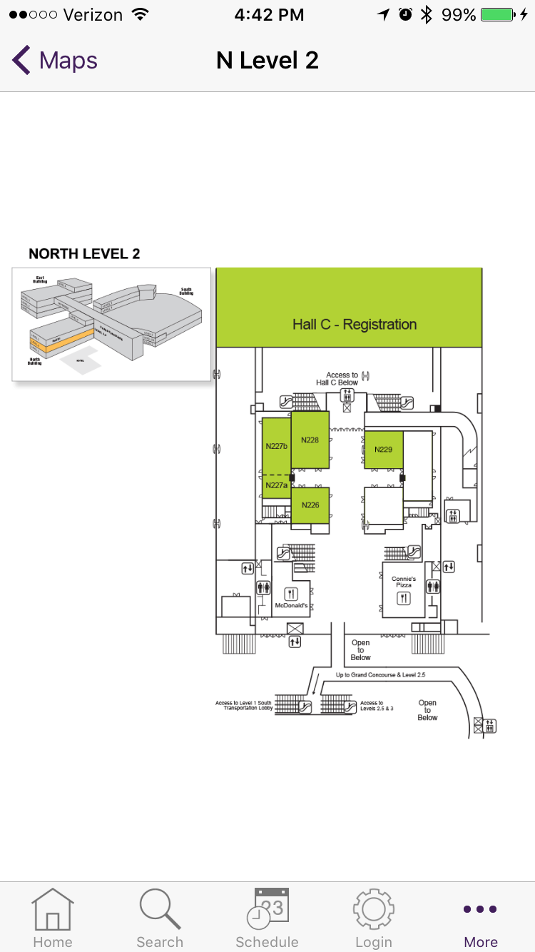 Floor Plan Example In Medical Meeting App EventPilot For McCormick - Chicago map app