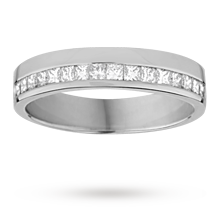 Princess cut 033 total carat weight diamond ladies wedding ring set