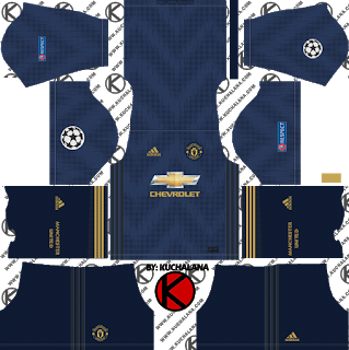 Manchester United 2018 19 Ucl Kit Dream League Soccer Kits Soccer Kits Manchester United Third Kit Manchester United
