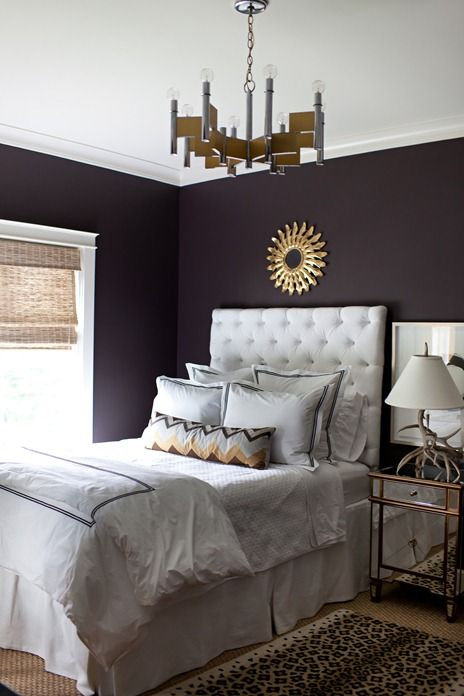 Lovely Contrast Touches Of Gold Glam Bedrooms