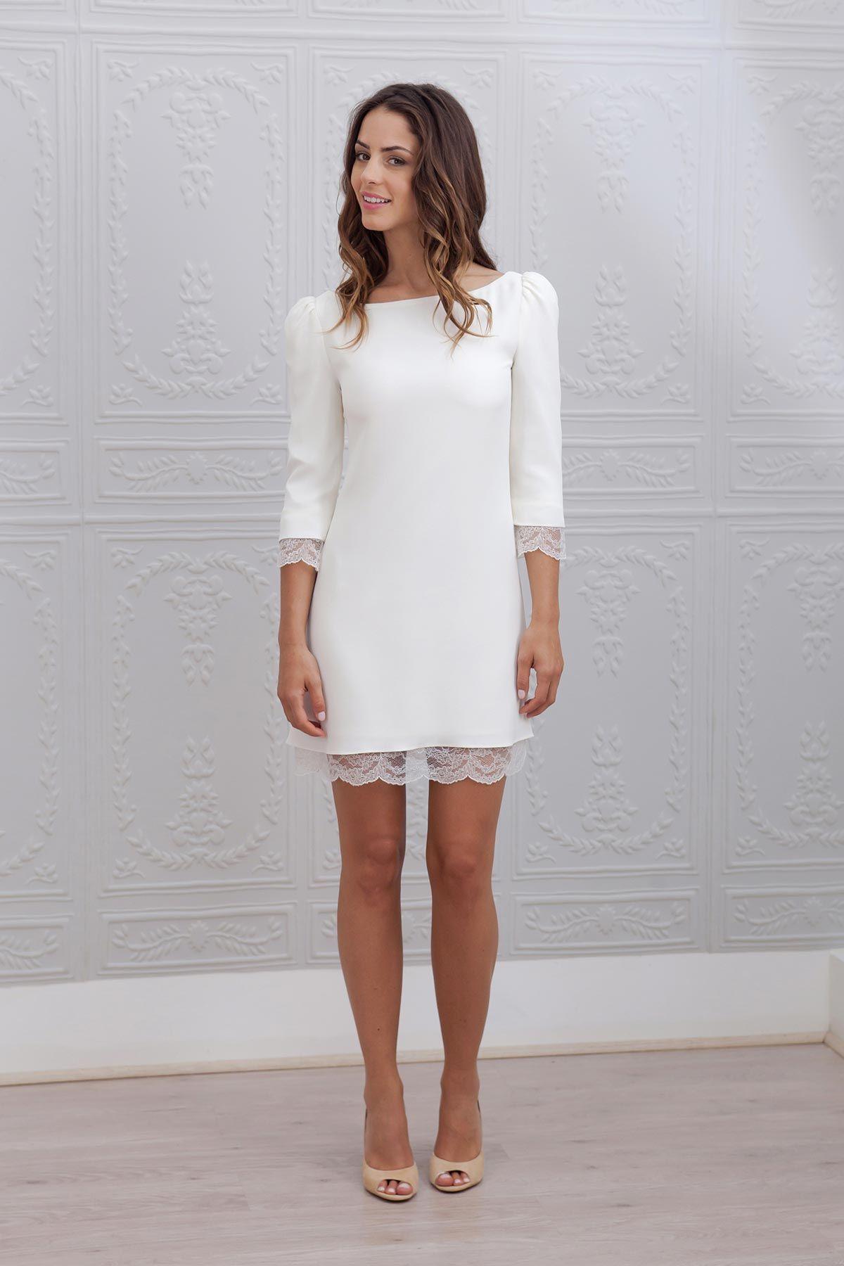 Robe de mariée courte , Marie Mathilde, modèle Margot bridaldress  robecourte shortweddingdress