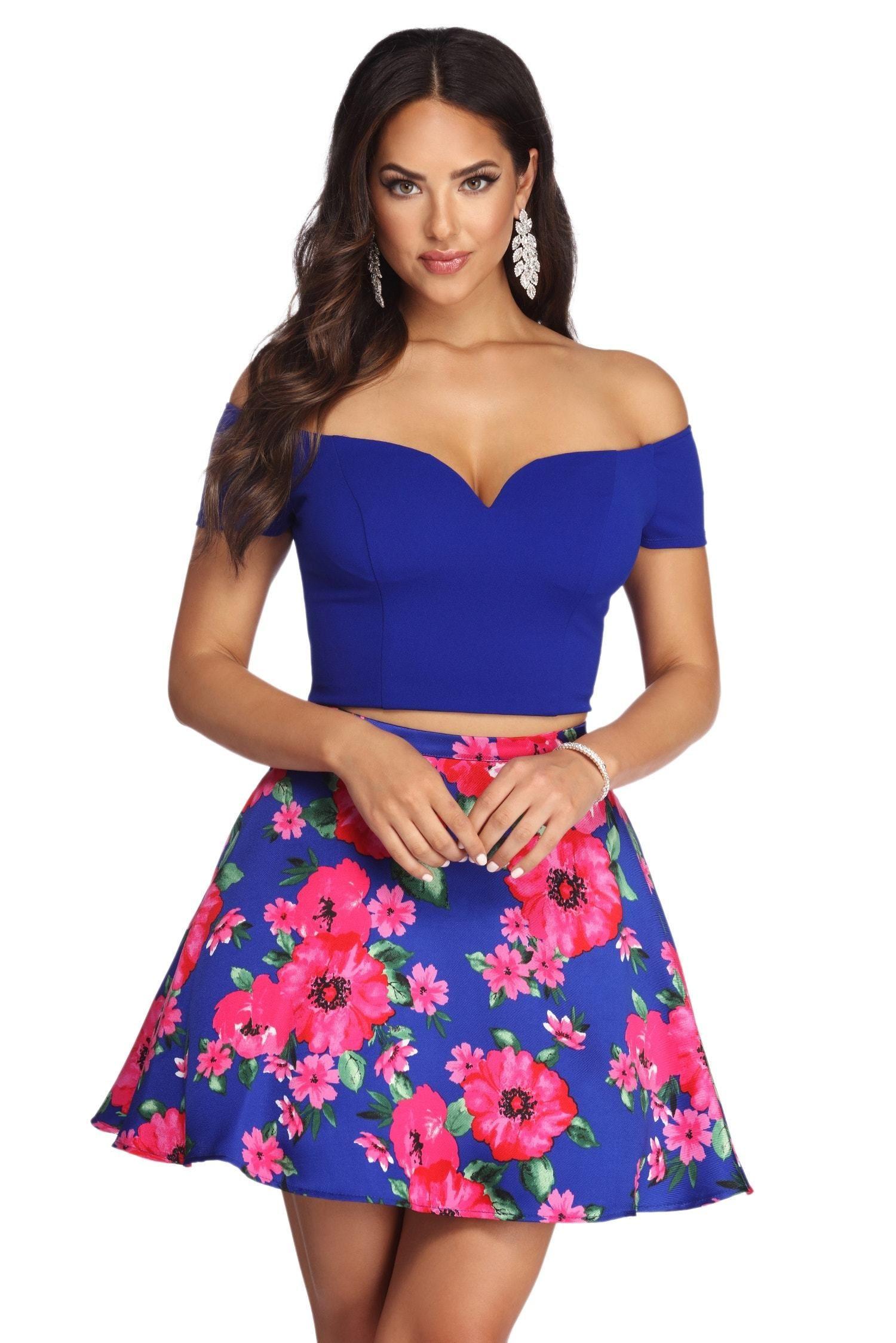 Liz Formal Floral Two Piece Dress Two Piece Dress Piece Dress Floral Two Piece [ 2247 x 1500 Pixel ]