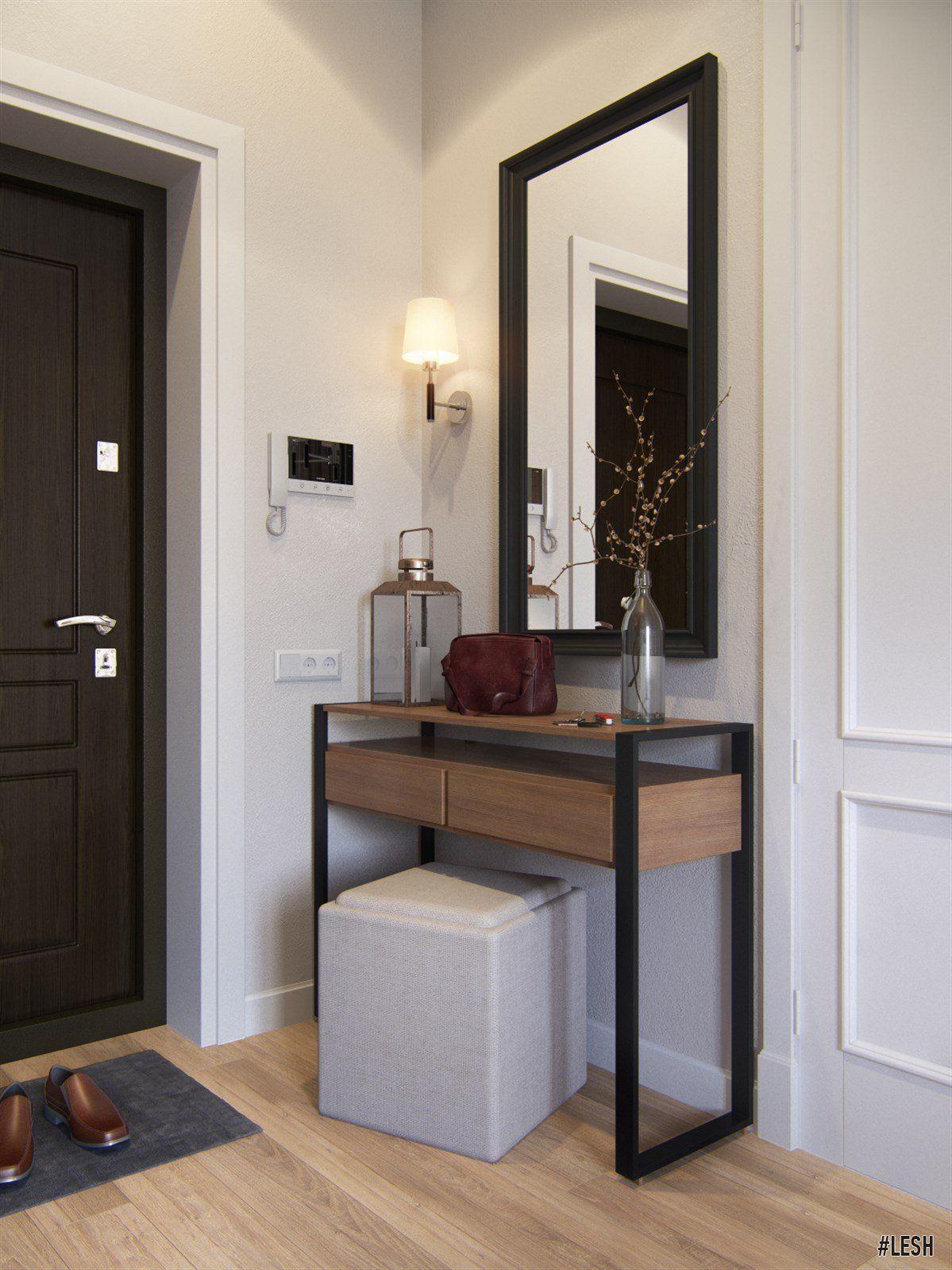 Modern hallway furniture ideas  Eclectic hallway  LESH design interior hall modern small light