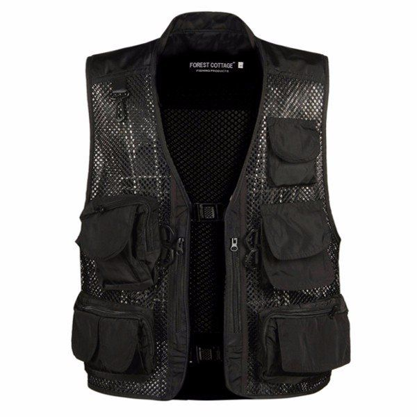 Mens Breathable Mesh Multifunctional Pockets Waistcoast Quick Dry Outdoor Fishing Sleeveless Vests Cheap - NewChic