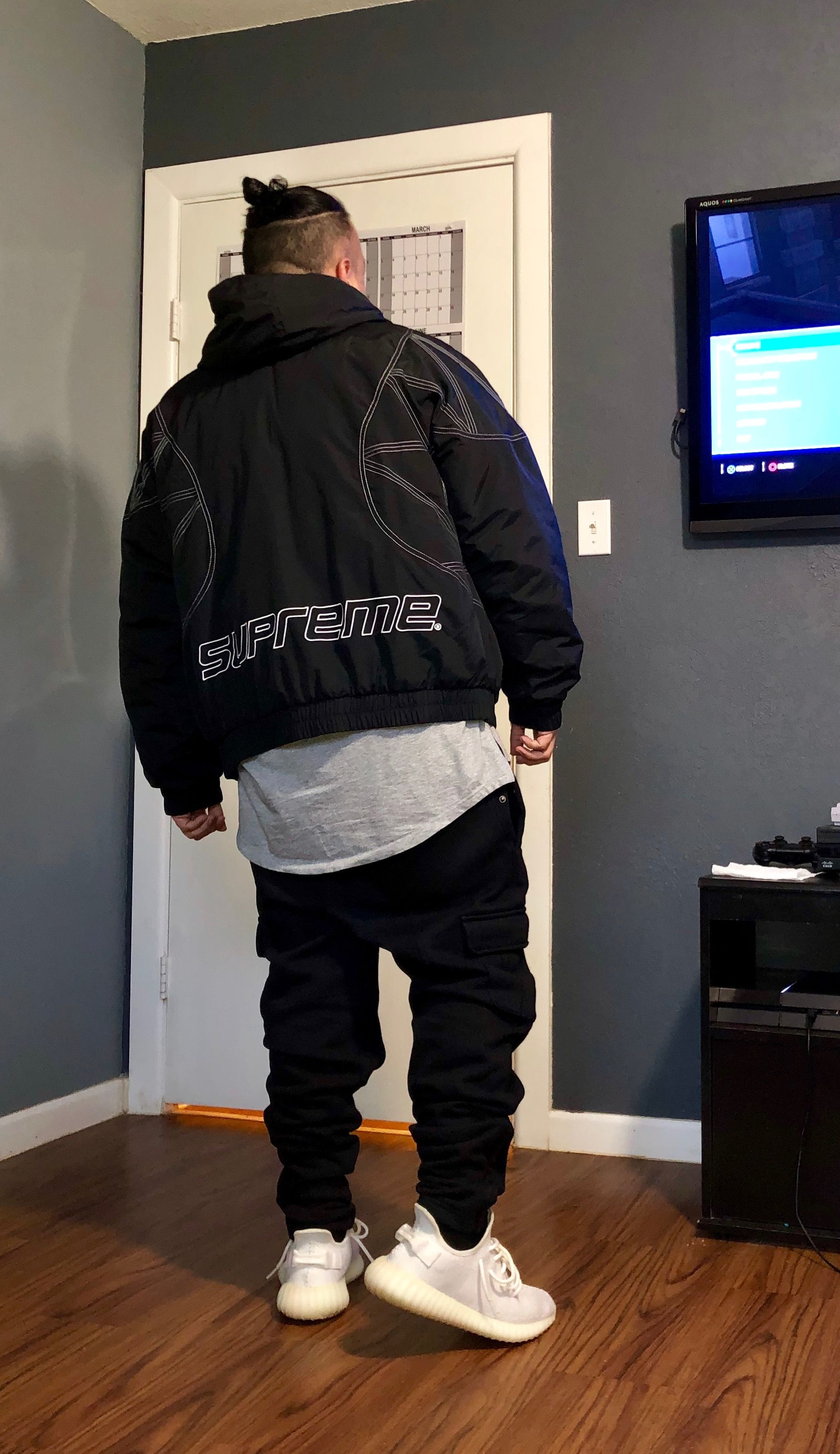 7084ec33 Supreme ZigZag Stitch Puffer Jacket FW18💧 | Supreme in 2019 ...