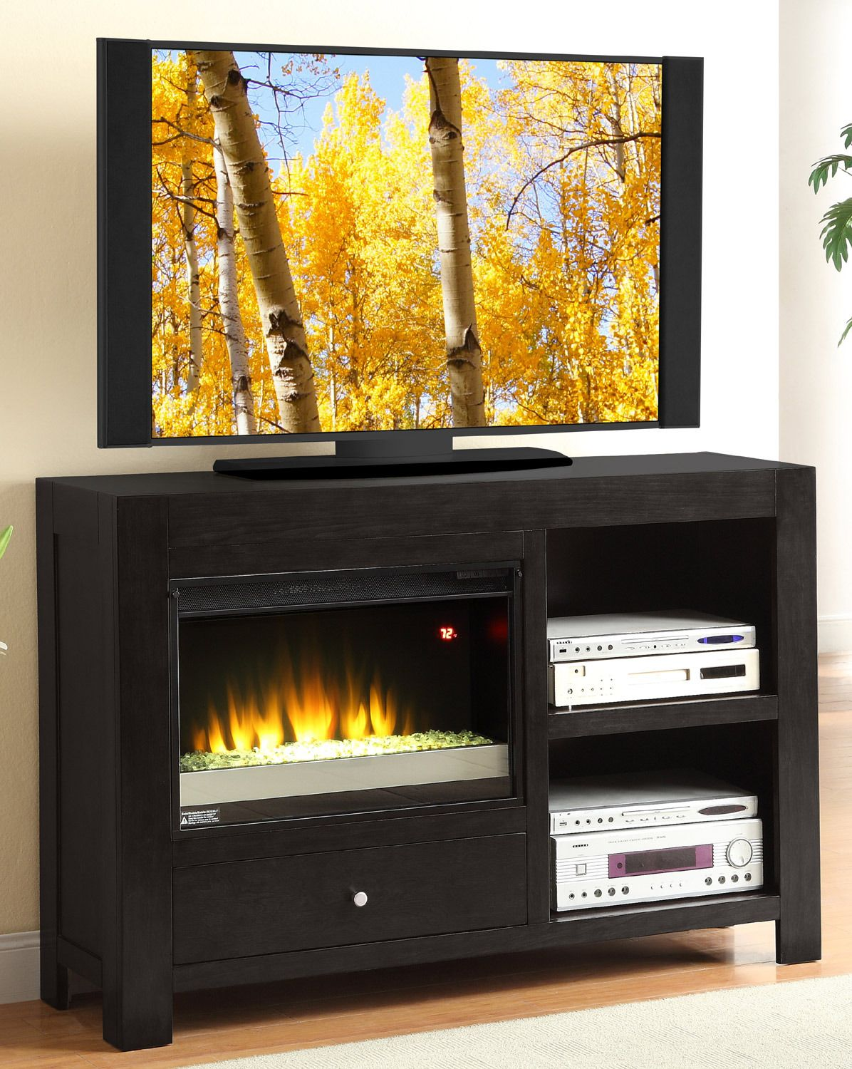 Montgomery 26in electric fireplace and tv stand cherry 26mm2490 c233 - Cosmopolitan 54 Fireplace Console Legends Home Gallery Stores
