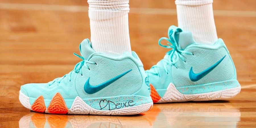 100% authentic 10d5b 41560 Jayson Tatum Debuted the New Nike Kyrie 4 PE | Kyrie | Nike ...