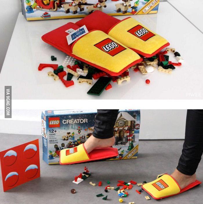 c47ad4f5dcf Lego has just created anti-Lego brick slippers - 9GAG