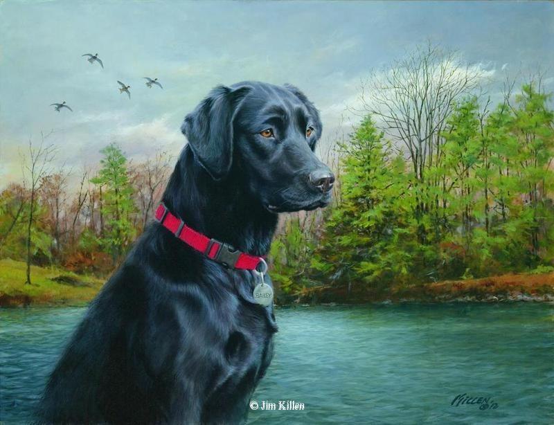 Bailey Black Labrador Retriever Br Original Acrylic Painting With Images Dog Paintings Dog Artwork Labrador Art