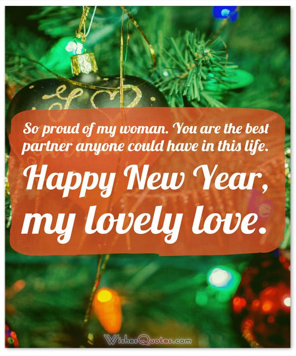 High Quality Happy New Year Messages For Her: So Proud Of My Woman. You Are The Nice Design