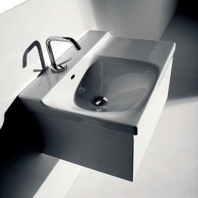 Ws Bath Collections Buddy Ceramic 24 Wall Mount Bathroom Sink