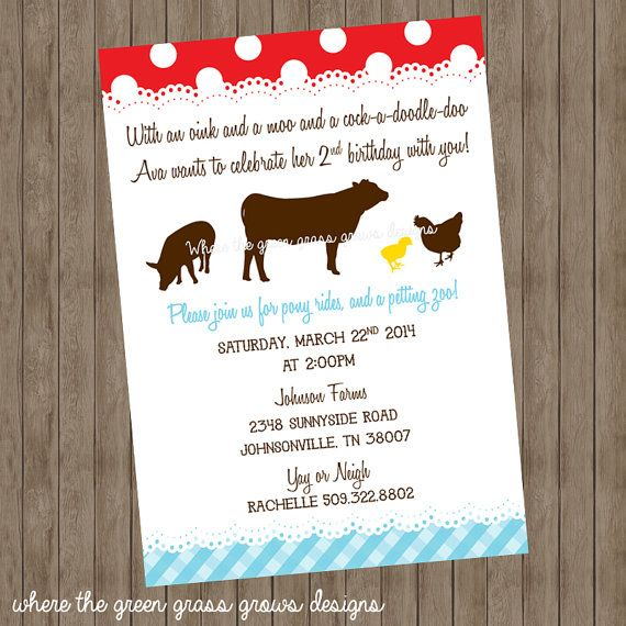 Farm printable invitation by thegreengrassgrows on etsy etsy farm printable invitation by thegreengrassgrows on etsy stopboris Choice Image