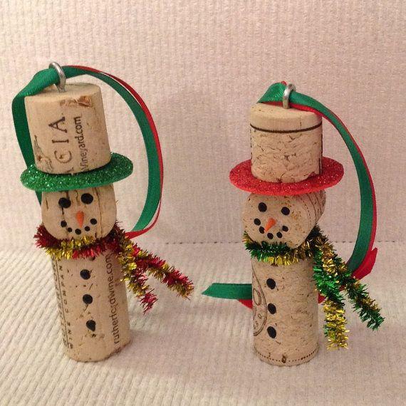 Cork Snowman Ornament Kreatív Projektek Borosdugóból 95f0287820