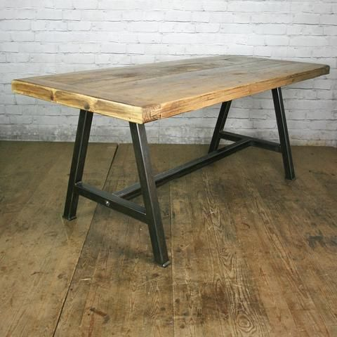 The Steel A Frame Dining Table In Stock Dining Table Dining