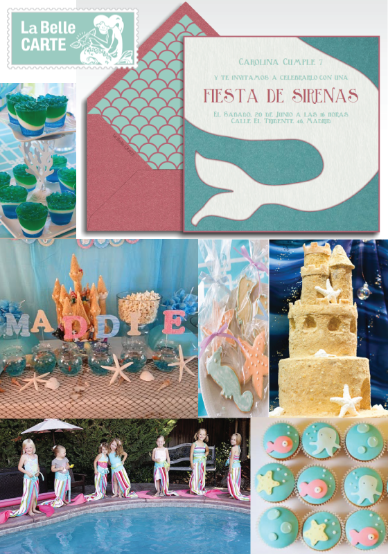 Invitaciones baby shower invitaciones fiesta infantil for Fiesta tematica sirenas