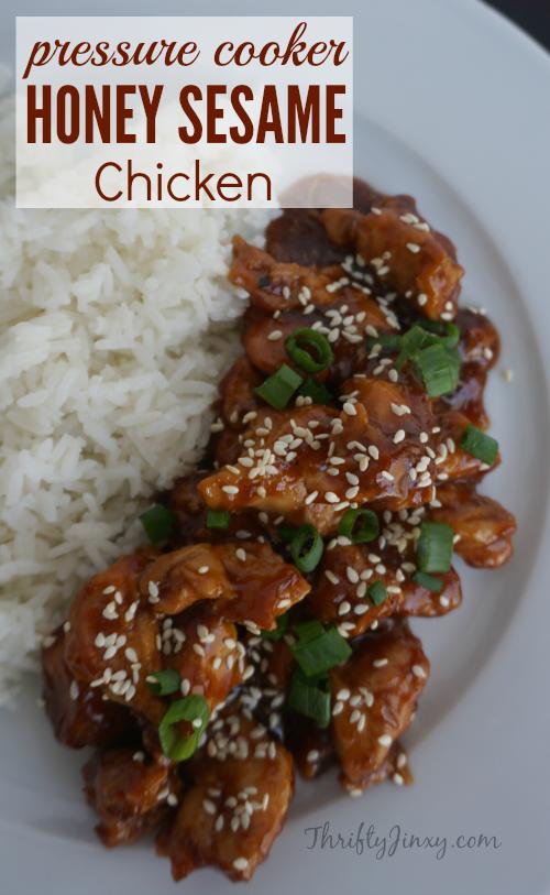Easy Pressure Cooker Recipes Honey Sesame Chicken Recipe Best
