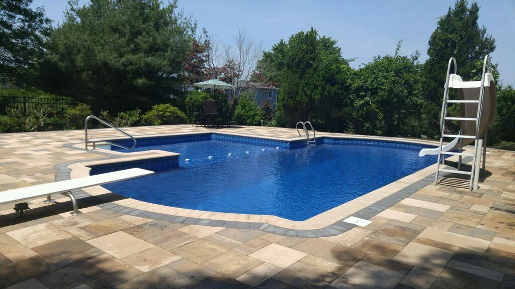 Dive into a new project! Re-do your pool and patio before summer 2017 with the help of Cambridge Pavers! Installation: Heritage Design Group.
