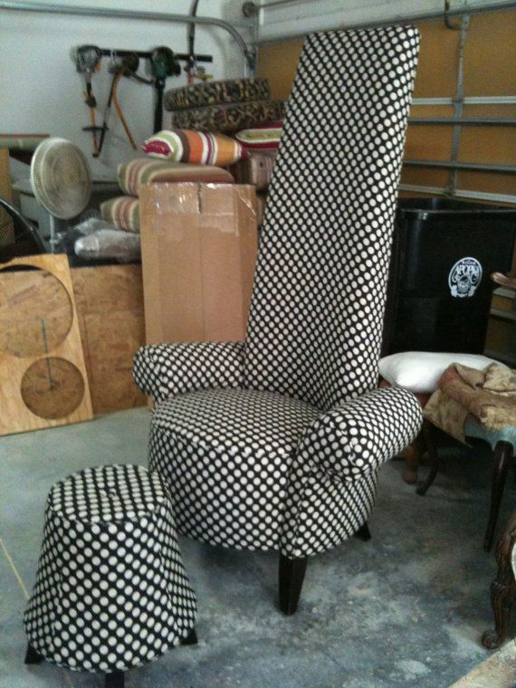 Swell Whimsical Made To Order High Back Upholstered Chair And Home Remodeling Inspirations Genioncuboardxyz