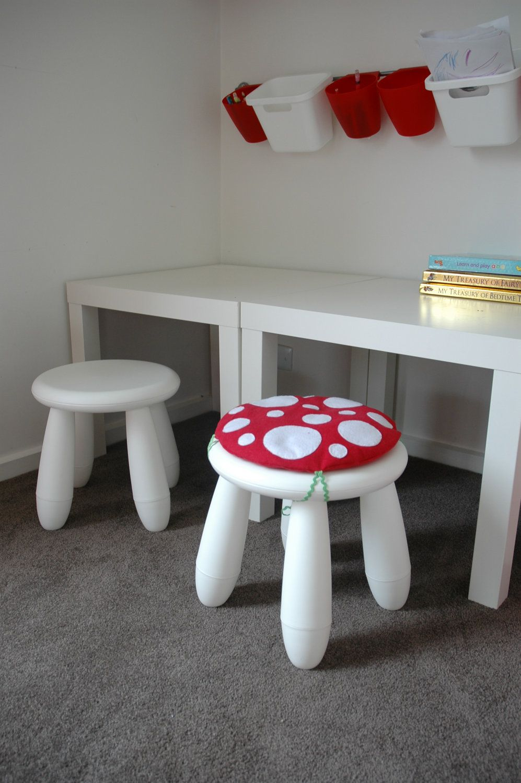 Ikea kids table mammut - Toadstool Cushion Red Children Kids Cushion For Ikea Mammut Stool Chair
