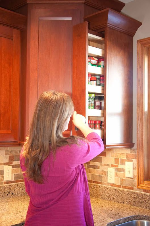 PULL OUT SPICE RACK in upper cabinet. By Swita Cabinetry | Storage ...
