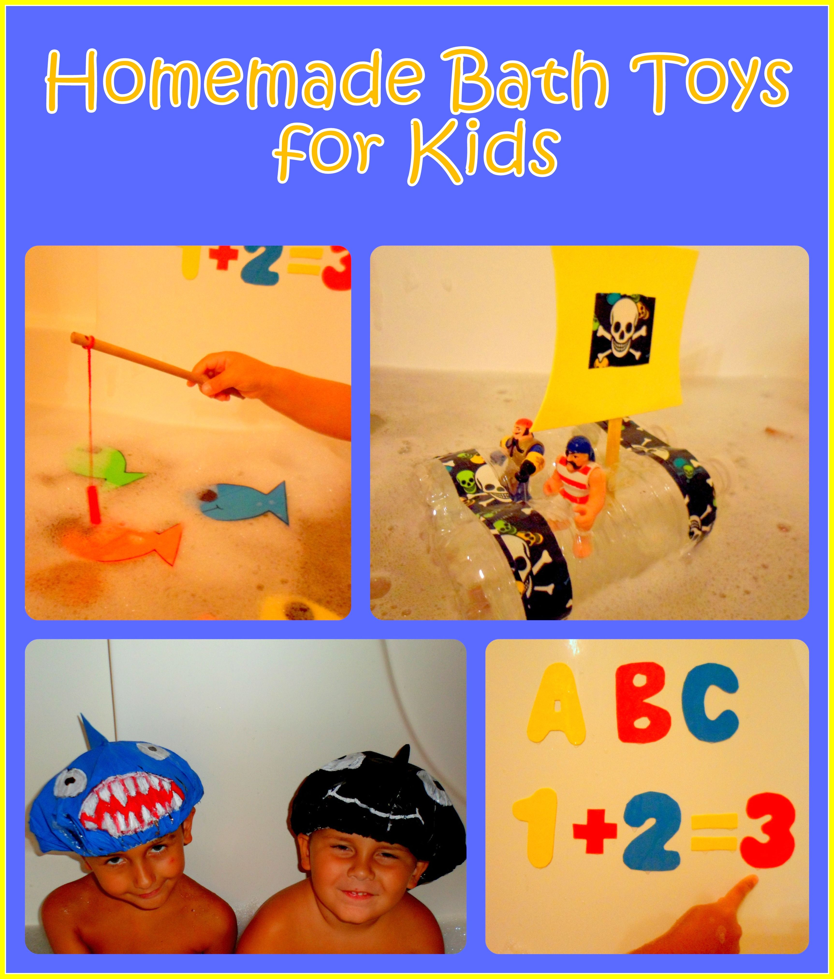 How to Make Homemade Bath Toys for Kids