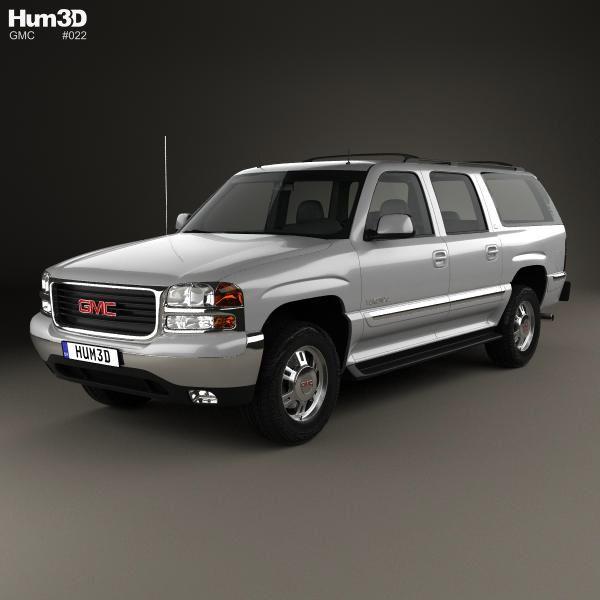 3d Model Of Gmc Yukon Xl 2000 Gmc Yukon Xl Car 3d Model 2000