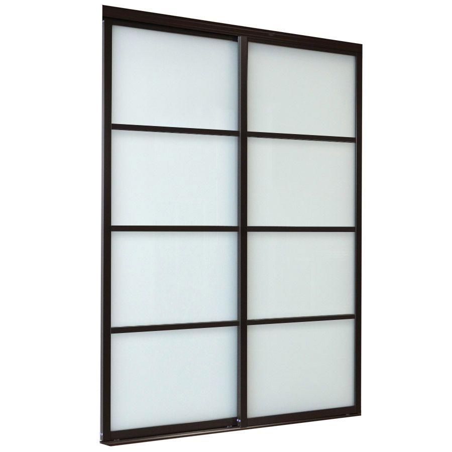 Reliabilt White 4 Lite Laminated Glass Sliding Closet Interior Door