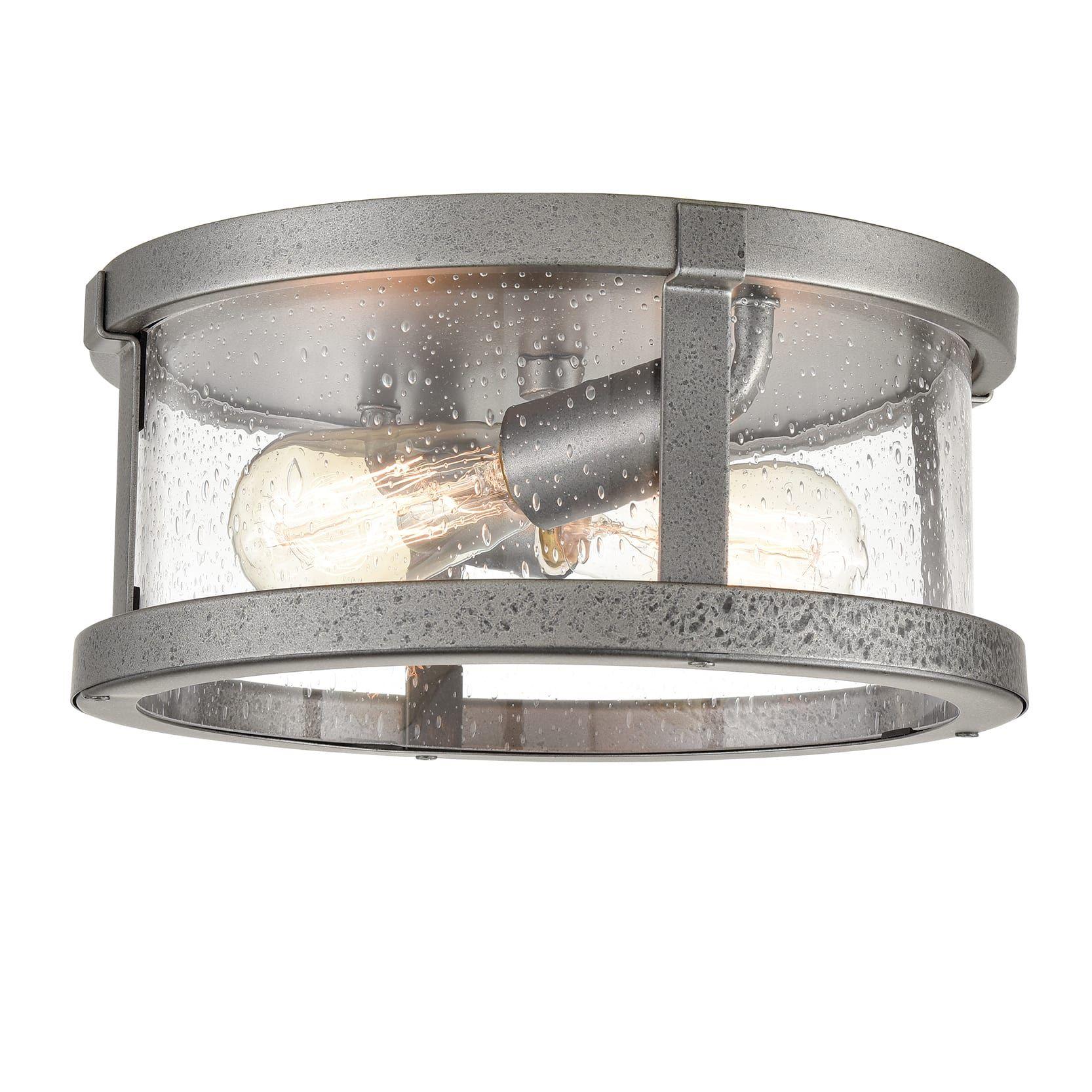 Farmhouse Drum Flush Mount Ceiling Light Seeded Glass Shade In 2021 Flush Mount Ceiling Lights Ceiling Lights Seeded Glass
